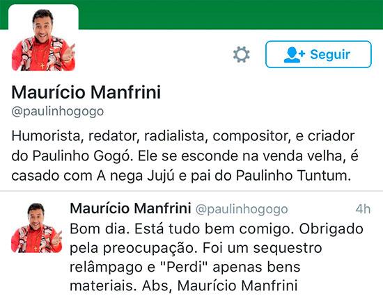 Humorista é feito de refém durante assalto no Rio