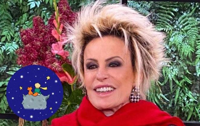 Ana Maria Braga de blusa vermelha, sorridente
