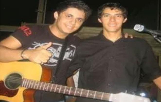 Luizmar Damasceno ao lado de Cristiano Araújo