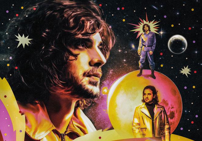 Fiuk em arte da capa de novo single onde aparece vestido de astronauta no espaço