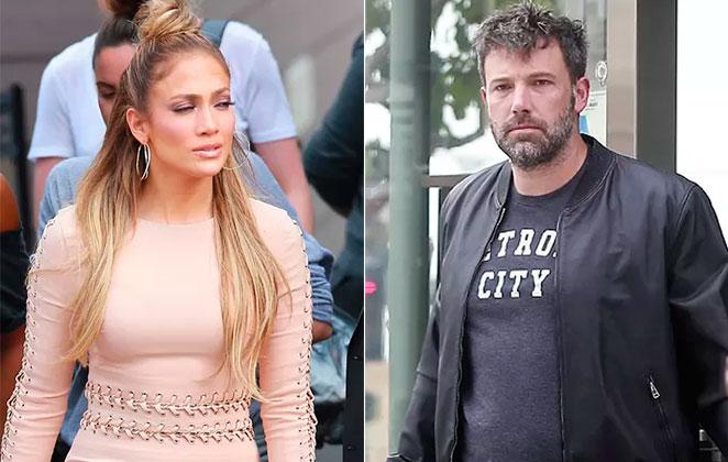 Jennifer Lopez e Ben Affleck fotomontagem