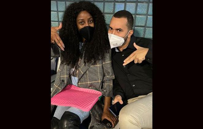 Gilberto Nogueira e Camilla de Lucas posaram juntos em aeroporto