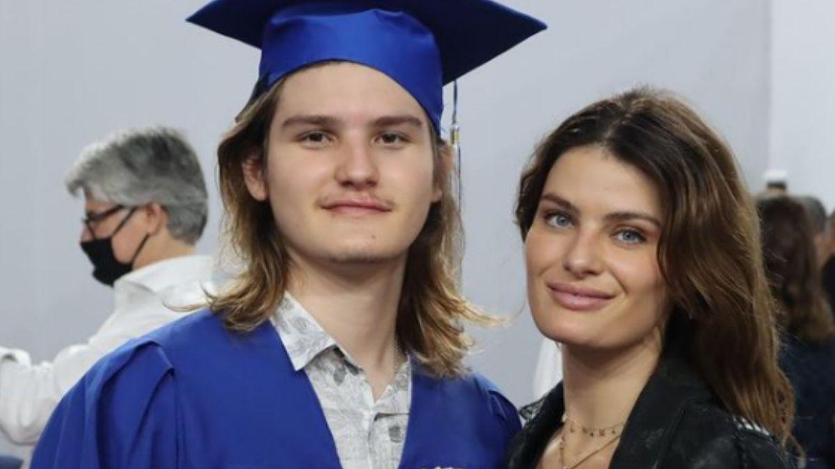 Isabeli Fontana com o filho, Zion