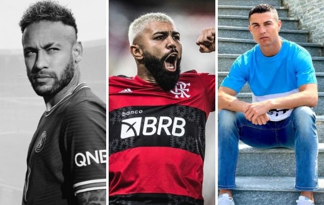 Neymar, Gabigol, Cristiano Ronaldo