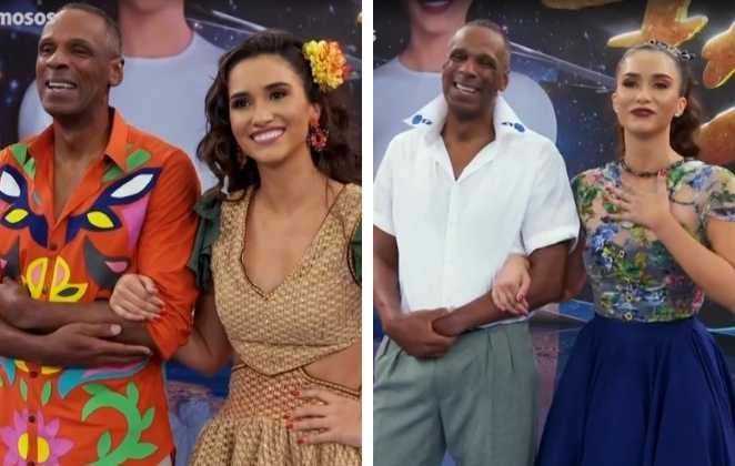 Robson Caetano e Beatriz Larrat no dança do famosos