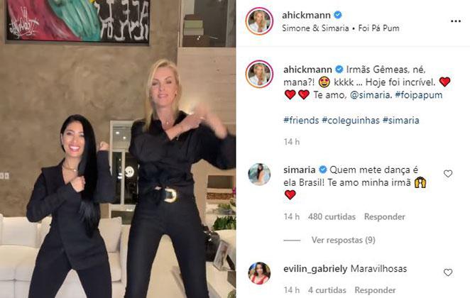 """Simaria e Ana Hickmann arrasaram na coreografia de """"Foi Pá Pum"""""""
