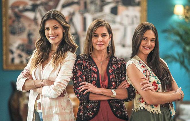 Vitória Strada, Deborah Secco e Juliana Paiva são as protagonistas de Salve-se Quem Puder